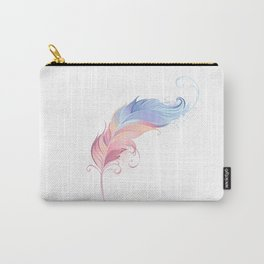 Elegant Powder Feather Carry-All Pouch