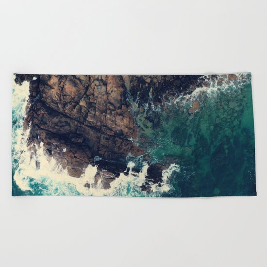 ocean breeze Beach Towel