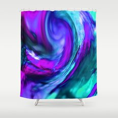 turquiose and purple abstract Shower Curtain