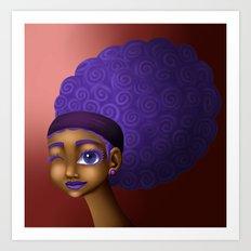 Violet Spirals Art Print