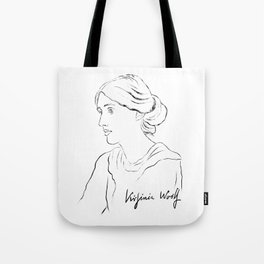 Virginia Woolf Portrait with Signature Tote Bag