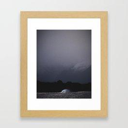 Moody wave Framed Art Print