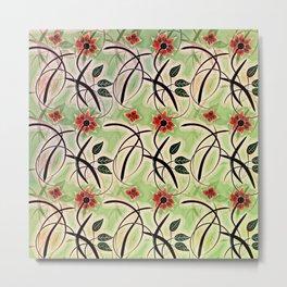 Flower Swirl Pattern Day Metal Print