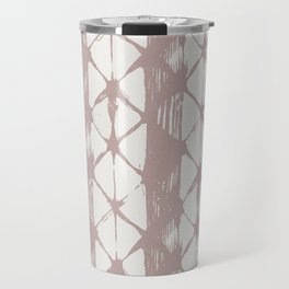 Simply Braided Chevron Clay Pink on Lunar Gray Travel Mug