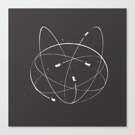 Atomic Kitties Canvas Print