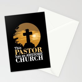 Christianity - Awesome Church Pastor Stationery Cards