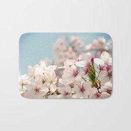 Spring, Flower Photography, Pastel, Pink, Romantic Cherry Blossom, Art Deco - 8 x 10 Wall Decor Bath Mat