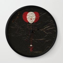 Pennywise the Clown - Stephen King's IT Inspired vintage movie poster Wall Clock
