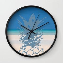 Pineapple Tropical Beach Design Wall Clock