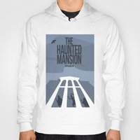 haunted mansion Hoodies featuring The Haunted Mansion by Minimalist Magic - Art by Tony Sherg