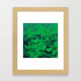 Green Watercolor Framed Art Print