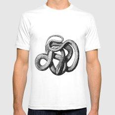 The Snake MEDIUM White Mens Fitted Tee