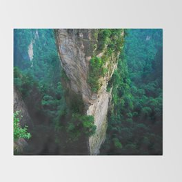 VERTICAL PILLARS - CHINA Throw Blanket