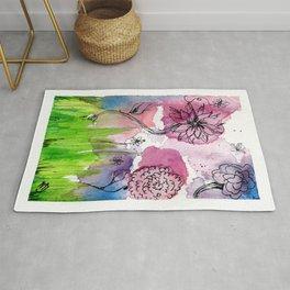 Flower Doodle 3 Rug