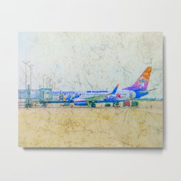 SunExpress Boeing 737-800. The smurfs..... the lost village Metal Print