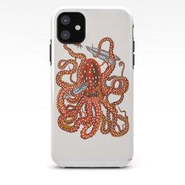 octopus with sardines iPhone Case