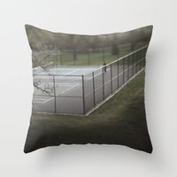 tennis Throw Pillows featuring Tennis by James Lyle