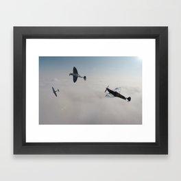 Spitfire Victory Roll Framed Art Print