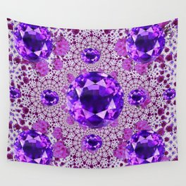 Amethyst Purple Gems February Birthstones Wall Tapestry