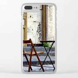 Coffee time in Catania on the Isle of Sicily Clear iPhone Case