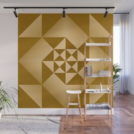 Abstract Triangles - Desert Wall Mural