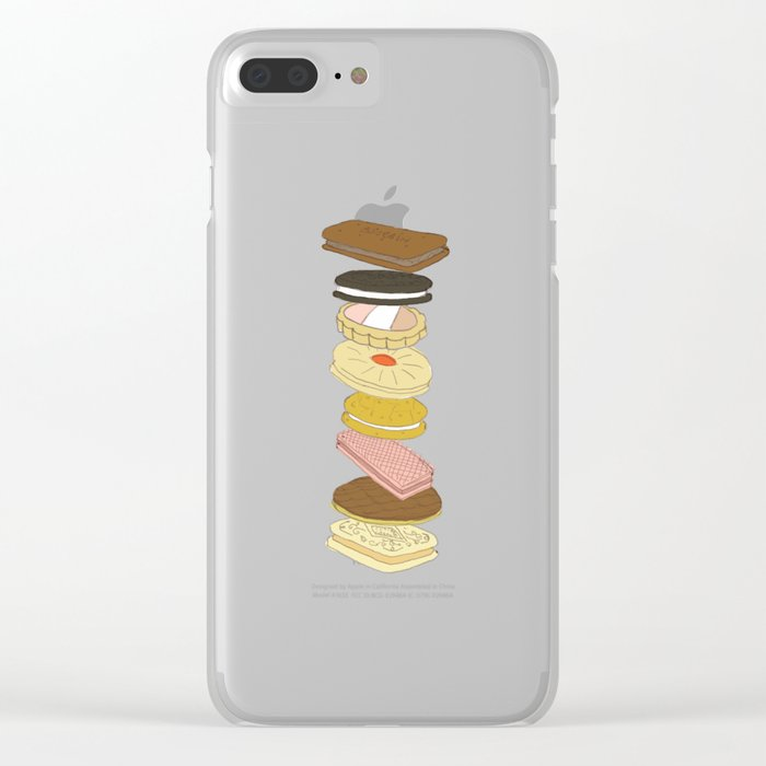 biscui - biscuit pattern Clear iPhone Case
