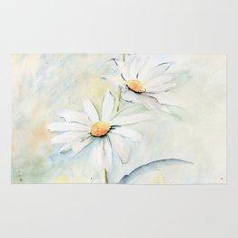 White Daisies Rug