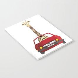 Giraffe in a Car Notebook