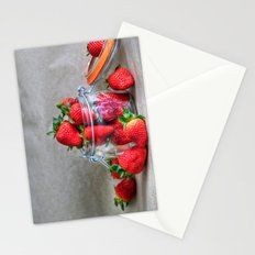 Strawberries in a Jar Stationery Cards