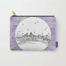 Adelaide, Australia City Skyline Illustration Drawing Carry-All Pouch