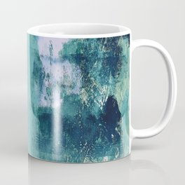012: a bright contemporary abstract piece in teal and lavender by Alyssa Hamilton Art  Coffee Mug