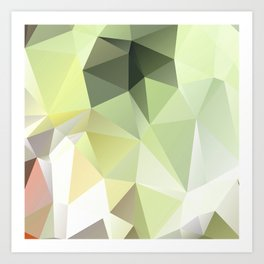 Polygon Glass Art Print