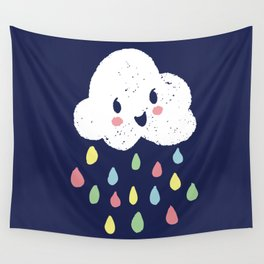 Rainbow Rain - Night Time Wall Tapestry