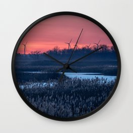 Long Point Sunsets Wall Clock