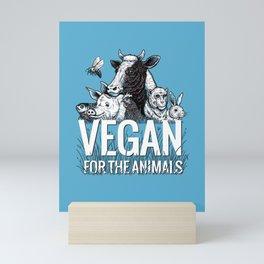 Vegan Animals Mini Art Print