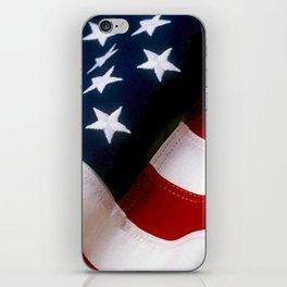 Waving American Flag iPhone Skin