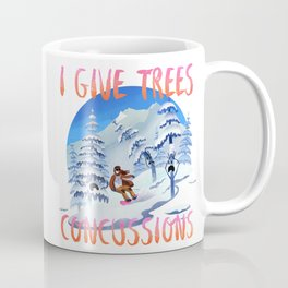 Snowboard Steve - I give trees concussions Coffee Mug