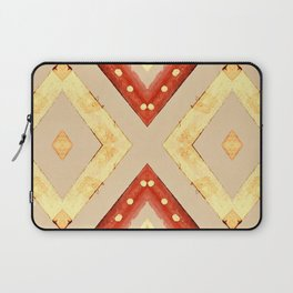 Gold and Red Diamond Pattern Laptop Sleeve