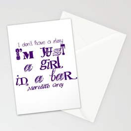 Just a girl in a bar Stationery Cards