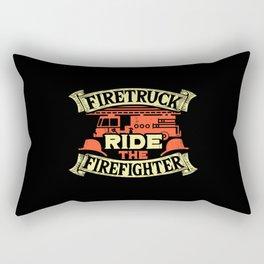 Firetruck Ride the Firefighter Rectangular Pillow