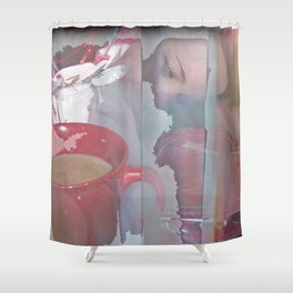 Glimpses Of The Valentine Shower Curtain