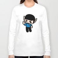 spock Long Sleeve T-shirts featuring Spock by Ziqi