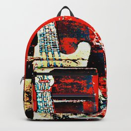 Contemporary Rock and Roll Red Backpack