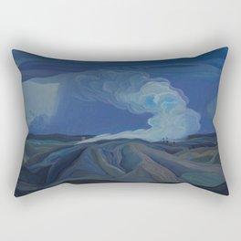 Canadian Landscape Oil Painting Franklin Carmichael Art Nouveau Post-Impression The Nickel Belt 1928 Rectangular Pillow