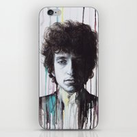 bob dylan iPhone & iPod Skins featuring Bob Dylan by Denise Esposito