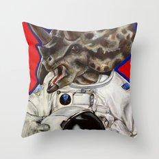 Prehistoric Astronaut Throw Pillow