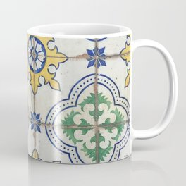 Painted Tiles - Green Yellow Blue Coffee Mug