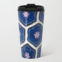 African Flower Crochet Art Travel Mug