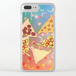 Pizza (A Reverie) Clear iPhone Case