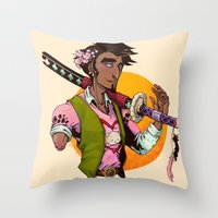 law Throw Pillows featuring Law by Ida Dobnik